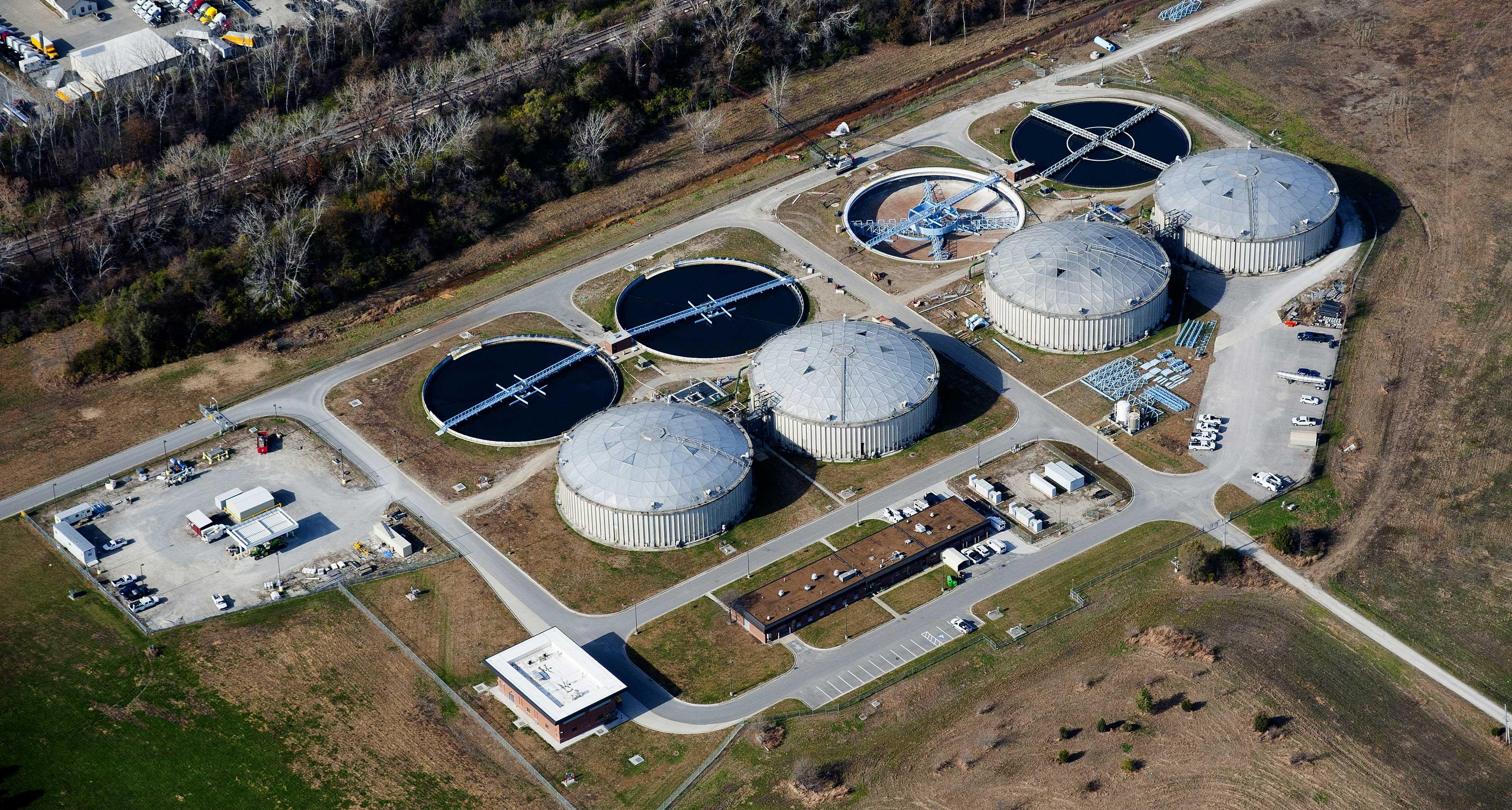 Aerial photo of current biosolids plant